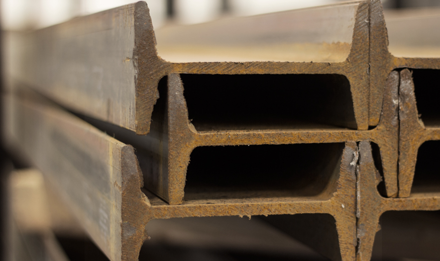 Structural Beam inventory at Farwest Steel